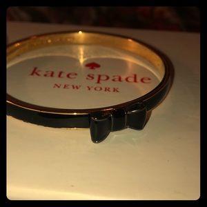 """kate spade """"Take a Bow"""" black & gold bangle"""